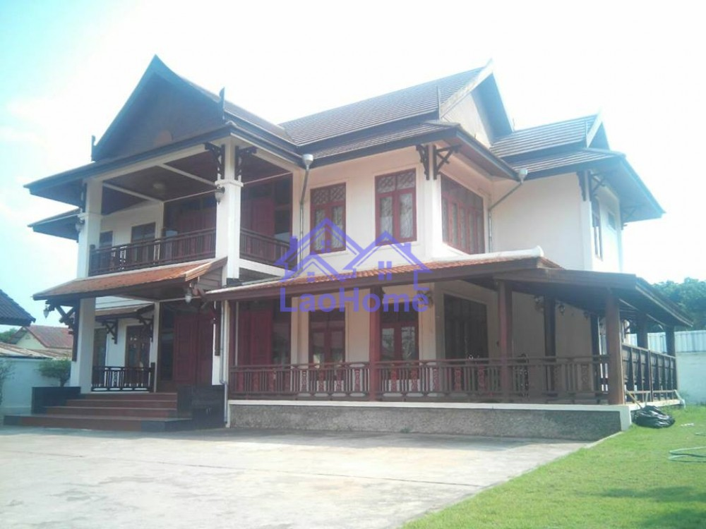 Beautiful two story house laohome real estate laos for Pretty two story houses