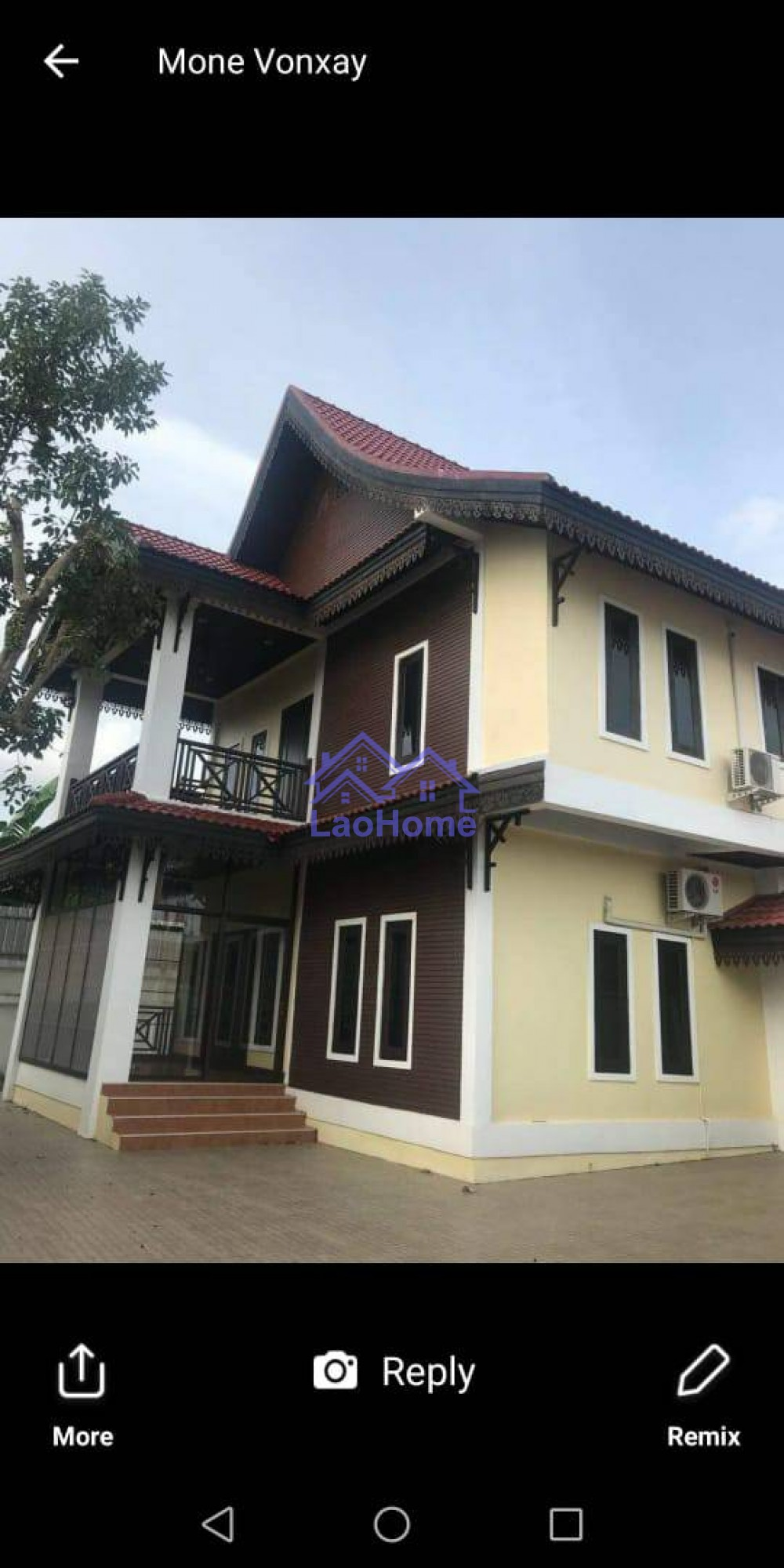 House for sale modern lao style with garden