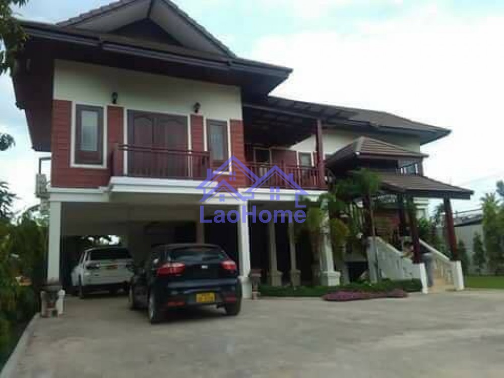 House for sale lao style with garden