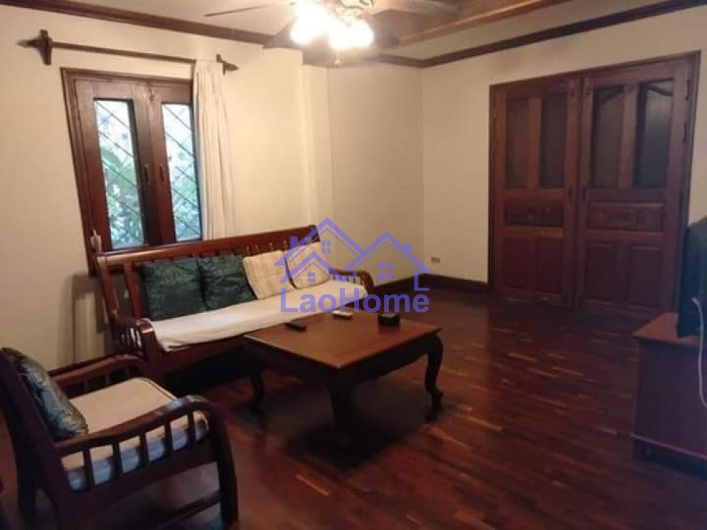 ID: 1443 - Lao style house for rent with garden